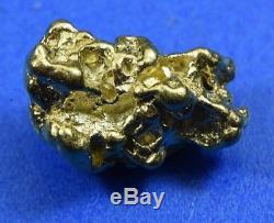 #294 Alaskan-Yukon BC Natural Gold Nugget 3.57 Grams Genuine