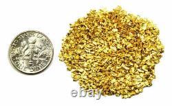 3.000 Grams Alaskan Yukon Bc Natural Pure Gold Nuggets #16 Mesh W Bottle (#b160)