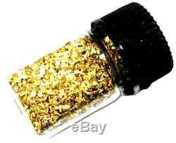 3.000 Grams Alaskan Yukon Bc Natural Pure Gold Nuggets Mesh #30 W Bottle (#b300)