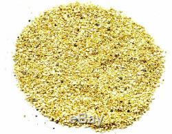 3.000 Grams Alaskan Yukon Bc Natural Pure Gold Nuggets Mesh #50 W Bottle (#b500)