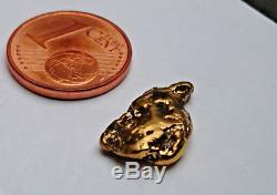 3,11 g 1 BEAUTIFUL Huuuge Alaska Natural Gold Nugget #323