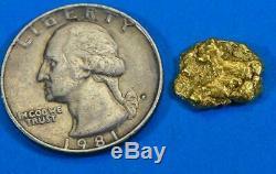 #306 Alaskan BC Natural Gold Nugget 2.76 Grams Genuine