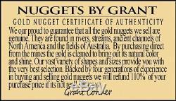 #372 Alaskan BC Natural Gold Nugget 19.69 Grams Genuine