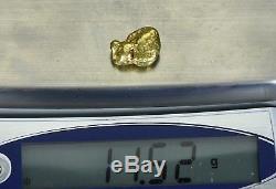#395 Alaskan BC Natural Gold Nugget 11.52 Grams Genuine