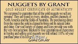 #401 Alaskan BC Natural Gold Nugget 10.41 Grams Genuine
