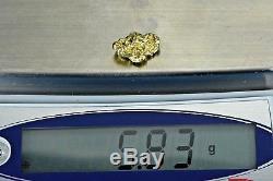 #410 Alaskan BC Natural Gold Nugget 5.83 Grams Genuine