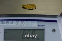 #436 Alaskan BC Natural Gold Nugget 8.69 Grams Genuine