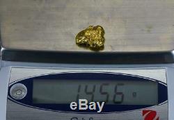 #462 Alaskan BC Natural Gold Nugget 14.56 Grams Genuine