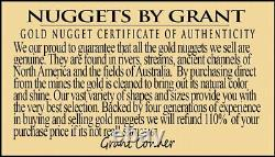 #478-C Alaskan BC Natural Gold Nugget 17.68 Grams Genuine