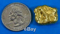 #485 Alaskan BC Natural Gold Nugget 14.37 Grams Genuine