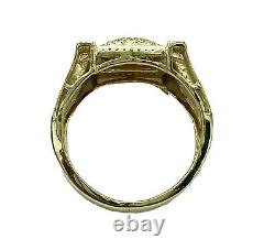 49 ct NATURAL fancy yellow DIAMOND mens nugget pinky ring SOLID yellow GOLD