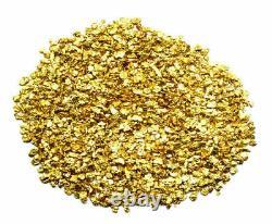 5.000 Grams Alaskan Yukon Bc Natural Pure Gold Nuggets #16 Mesh W Bottle (#b160)