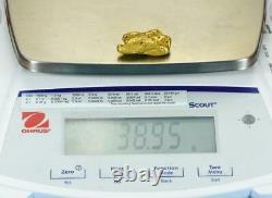 #547-B Large Alaskan BC Natural Gold Nugget 38.95 Grams Genuine