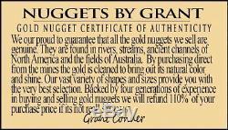 #547 Large Alaskan BC Natural Gold Nugget 27.71 Grams Genuine
