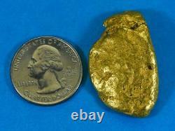 #547C Large Alaskan BC Natural Gold Nugget 37.99 Grams Genuine-C