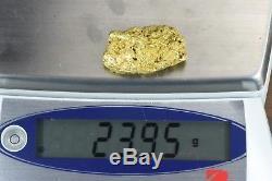 #550 Large Alaskan BC Natural Gold Nugget 23.95 Grams Genuine