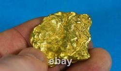 #551B Large Alaskan BC Natural Gold Nugget 37.61 Grams Genuine