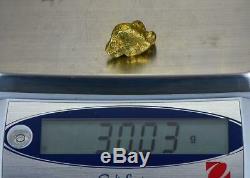 #558A Large Alaskan BC Natural Gold Nugget 30.03 Grams Genuine