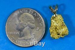 #560 Alaskan-Yukon BC Natural Gold Nugget Pendant 2.83 Grams Authentic