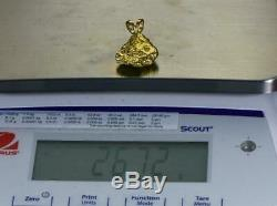 #560 Alaskan-Yukon BC Natural Gold Nugget Pendant 26.72 Grams Authentic