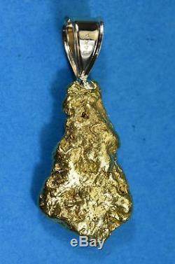 #564 Alaskan-Yukon BC Natural Gold Nugget Pendant 17.84 Grams Authentic