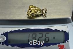 #573 Alaskan-Yukon BC Natural Gold Nugget Pendant 19.26 Grams Authentic