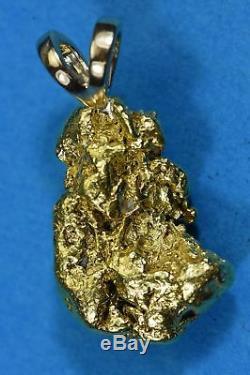 #574 Alaskan-Yukon BC Natural Gold Nugget Pendant 16.43 Grams Authentic