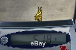 #576 Alaskan-Yukon BC Natural Gold Nugget Pendant 5.18 Grams Authentic