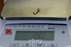 #578 Alaskan-Yukon BC Natural Gold Nugget Pendant 2.80 Grams Authentic