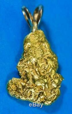 #583 Alaskan-Yukon BC Natural Gold Nugget Pendant 5.11 Grams Authentic