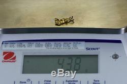 #586 Alaskan-Yukon BC Natural Gold Nugget Pendant 4.38 Grams Authentic