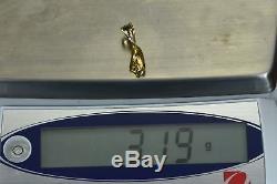 #590 Alaskan-Yukon BC Natural Gold Nugget Pendant 3.19 Grams Authentic