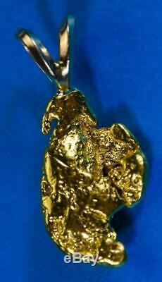 #594 Alaskan-Yukon BC Natural Gold Nugget Pendant 3.42 Grams Authentic