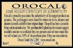 #610 Alaskan-Yukon BC Natural Gold Nugget Pendant 12.45 Grams Authentic