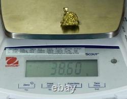 #611 Alaskan-Yukon BC Natural Gold Nugget Pendant 38.60 Grams Authentic
