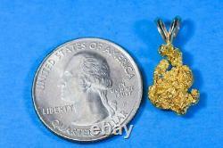 #617 Alaskan-Yukon BC Natural Gold Nugget Pendant 2.70 Grams Authentic