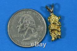 #619 Alaskan-Yukon BC Natural Gold Nugget Pendant 4.13 Grams Authentic