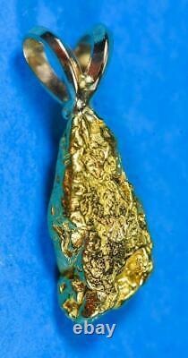 #628 Alaskan-Yukon BC Natural Gold Nugget Pendant 2.07 Grams Authentic