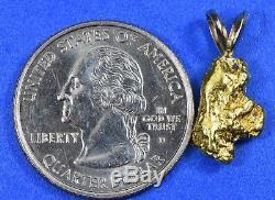#630 Alaskan-Yukon BC Natural Gold Nugget Pendant 3.73 Grams Authentic
