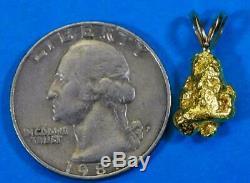 #634 Alaskan-Yukon BC Natural Gold Nugget Pendant 3.31 Grams Authentic