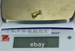 #644 Alaskan-Yukon BC Natural Gold Nugget Pendant 5.06 Grams Authentic