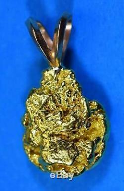 #656 Alaskan-Yukon BC Natural Gold Nugget Pendant 3.73 Grams Authentic