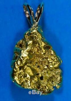 #661 Alaskan-Yukon BC Natural Gold Nugget Pendant 10.04 Grams Authentic