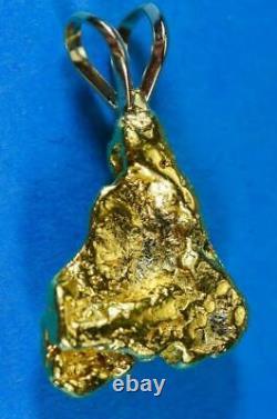 #661 Alaskan-Yukon BC Natural Gold Nugget Pendant 9.65 Grams Authentic