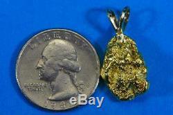 #669 Alaskan-Yukon BC Natural Gold Nugget Pendant 7.26 Grams Authentic