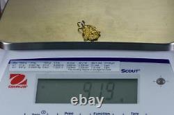 #670 Alaskan-Yukon BC Natural Gold Nugget Pendant 9.19 Grams Authentic