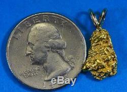 #671 Alaskan-Yukon BC Natural Gold Nugget Pendant 2.84 Grams Authentic