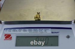#675 Alaskan-Yukon BC Natural Gold Nugget Pendant 9.40 Grams Authentic