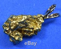 #677 Australian Natural Gold Nugget Pendant 9.30 Grams Authentic