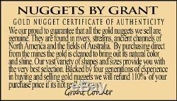 #694 Alaskan-Yukon BC Natural Gold Nugget Pendant 2.38 Grams Authentic